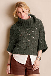 Women's Dolman Open Cowlneck Sweater