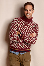 Men's Fair Isle Turtleneck Sweater