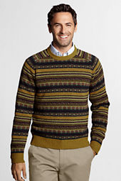 Men's Lambswool FairIsle Crew Sweater