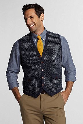 Lambswool Button Vest 423654: Classic Navy