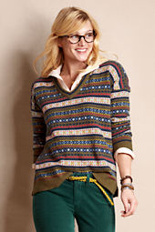 Women's Fair Isle V-Neck Sweater