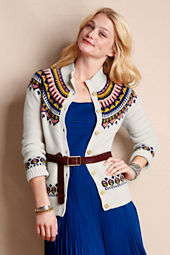 Women's Lambswool Fair Isle Cardigan