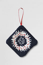 NQP Wreath Needlepoint Ornament