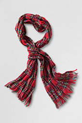 Girls' Plaid Fringe Scarf