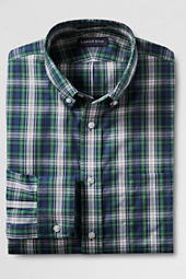 Men's Traditional Fit Tartan No Iron Buttondown Dress Shirt