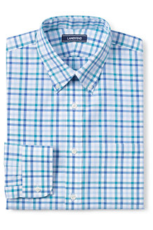 CLASSIC FIT. Buttondown-Kragen. Gemustertes Popelinhemd