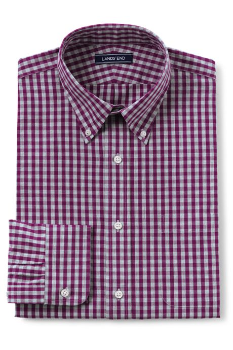 Men's Big & Tall Traditional Fit 40s Poplin Dress Shirt