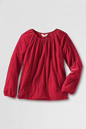 Girls' Long Sleeve Velveteen Shirt