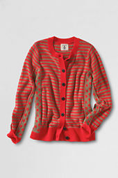 Girls' Long Sleeve Pieced Pattern Cardigan