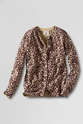 Girls' Printed Cardigan Sweater