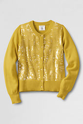 Girls' Long Sleeve Sparkle Cardigan