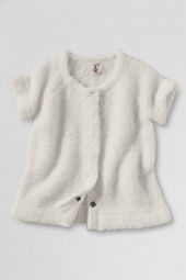 Girls' Short Sleeve Boucle Sweater