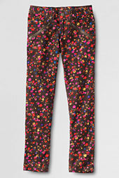 Girls' Slim Leg Pattern Corduroy Pants