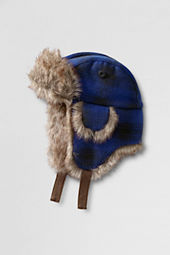 Boys' Faux Fur Lined Trapper Hat