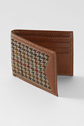 Men's Tweed Leather Wallet