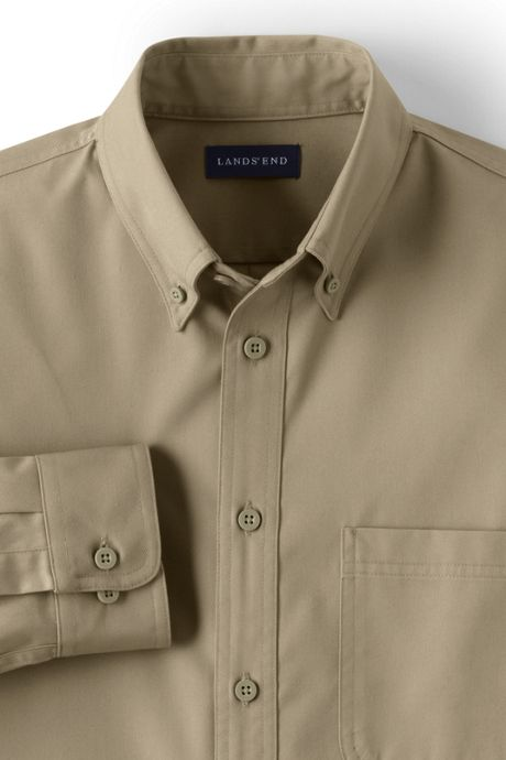 Men's Big Long Sleeve Basic Twill Shirt