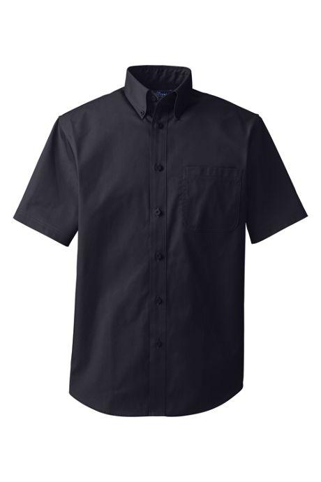 Men's Short Sleeve Basic Blend Twill Shirt