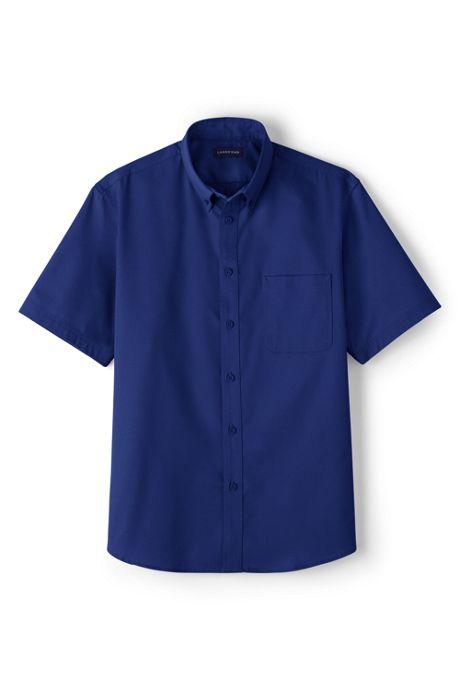 Men's Short Sleeve Basic Twill Shirt