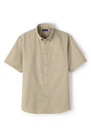 Men's Tall Short Sleeve Basic Twill Shirt