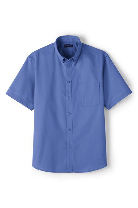 Men's Big Short Sleeve Basic Twill Shirt