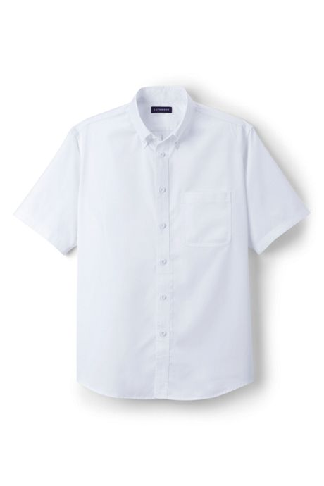 Men's Big Short Sleeve Basic Twill Shirt