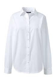 Women's Plus Size Long Sleeve Basic Twill Shirt