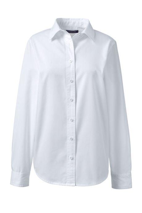 Women's Long Sleeve Basic Blend Twill Shirt
