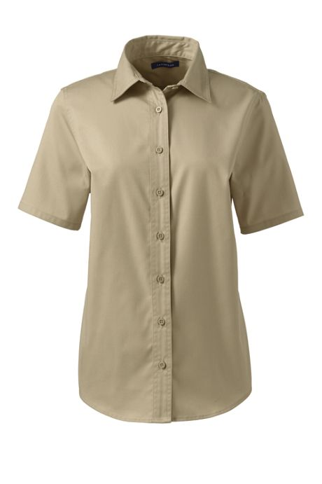 Women's Short Sleeve Basic Twill Shirt