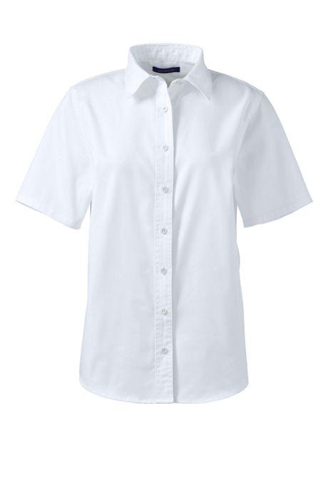 Women's Plus Size Short Sleeve Basic Twill Shirt