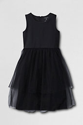 Girls' Sleeveless  Ponte Tulle Dress