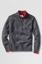 Boys' Button Mock Neck Sweater