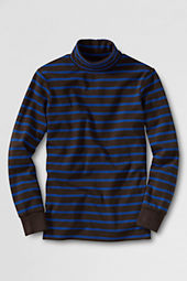 Boys' Long Sleeve Stripe Turtleneck