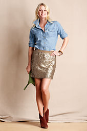 Women's Sequin Mini Skirt