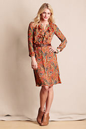 Women's Paisley Holiday Party Dress