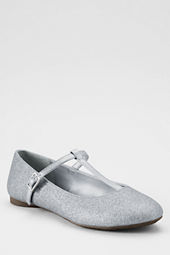 Girls' Kailey Glitter T-strap Ballet Shoes