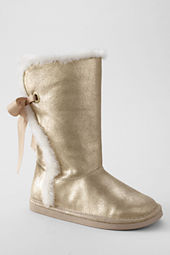 Girls' Lindsey Metallic High Shearling Boots with Back Lace
