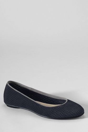 Women's Lila Perforated Suede Ballet Shoes