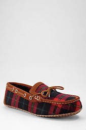 Men's Plaid Moc Slippers