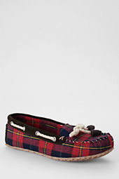 Women's Plaid Moc Slippers