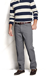Men's Pre-hemmed Traditional Fit Colored Denim Jeans-Gray Stone