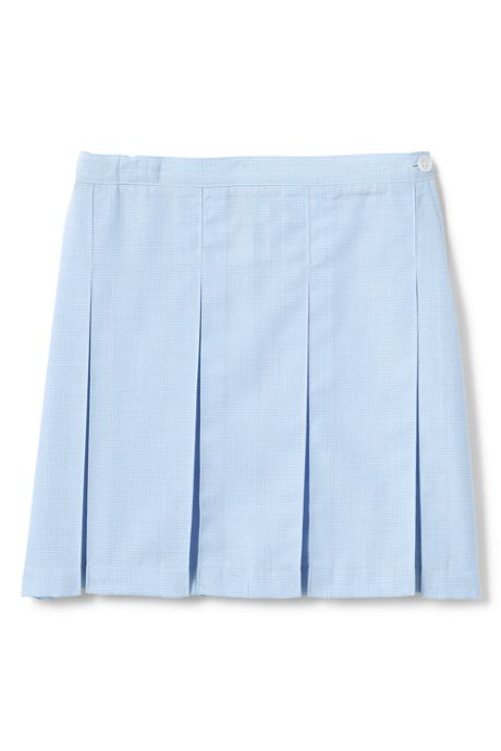 Custom Girls Plaid Box Pleat Skirt Top of Knee