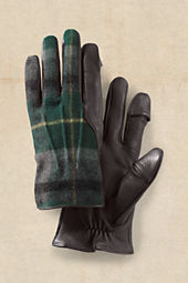 Men's Titletown Wool Plaid Inset Gloves