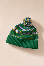 Men's Retro Lambswool Fair Isle Hat