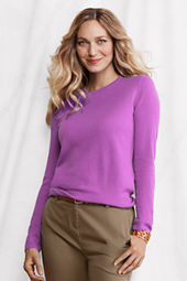 Women's Long Sleeve Solid Cashmere Tee