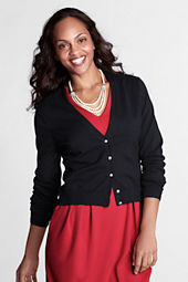 Women's Supima Rhinestone V-neck Cardigan