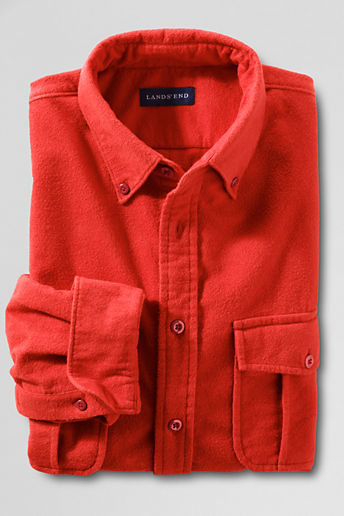 Men's Regular Portuguese Chamois Shirt - Sundried Tomato, M