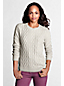 Women's Regular Meridian Long Sleeve Cable Crew Neck