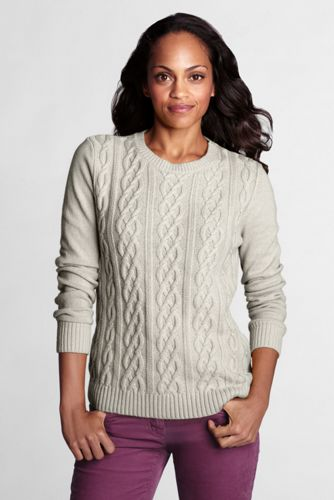 Le Pull Cable Méridien Col Rond Manches Longues Femme, Taille Standard