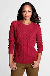 Women's Long Sleeve Meridian Cable Crewneck Sweater