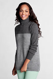 Women's Colorblock Merino Turtleneck